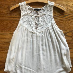 American Eagle Lacey White Blouse